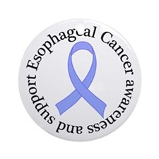Esophageal Cancer Support Ornament (Round)
