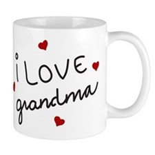 I Love Grandma Small Mug