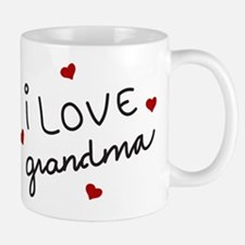 I Love Grandma Small Small Mug