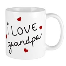 I Love grandpa Small Mug