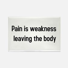 Pain is weakness Rectangle Magnet
