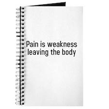 Pain is weakness Journal