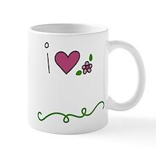 I Love Flowers Small Small Mug