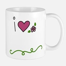 I Love Flowers Small Small Mug