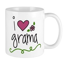 I Love Grama Small Mug