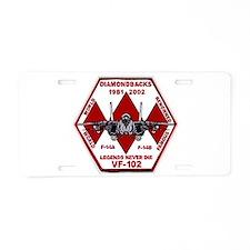 VF 102 Diamondbacks Aluminum License Plate