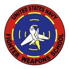 Fighter Weapons School Round Car Magnet