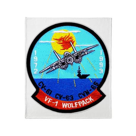 VF 1 Wolfpack Commemorative Throw Blanket