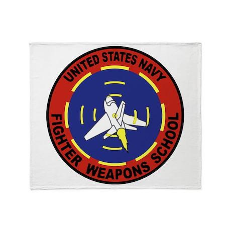 Fighter Weapons School Throw Blanket