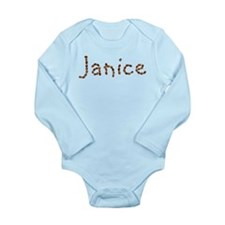 Janice Coffee Beans Long Sleeve Infant Bodysuit