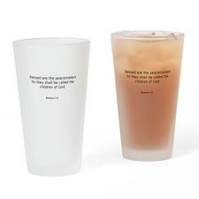 Matthew 5:9 Drinking Glass