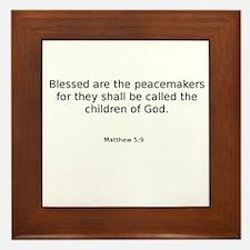 Matthew 5:9 Framed Tile