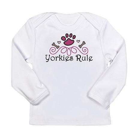 Yorkies Rule Long Sleeve Infant T-Shirt