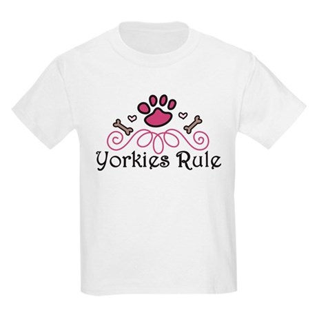 Yorkies Rule Kids Light T-Shirt