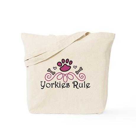 Yorkies Rule Tote Bag
