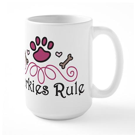 Yorkies Rule Large Mug