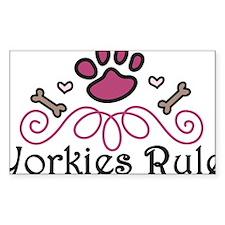 Yorkies Rule Decal