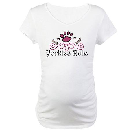 Yorkies Rule Maternity T-Shirt