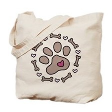 Dog Bone Circle Tote Bag