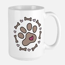 Dog Bone Circle Large Mug