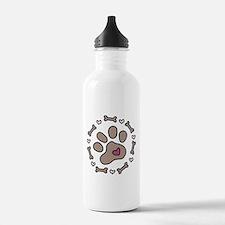 Dog Bone Circle Water Bottle