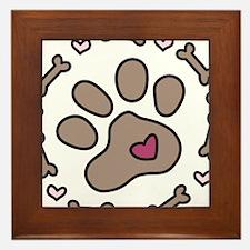 Dog Bone Circle Framed Tile