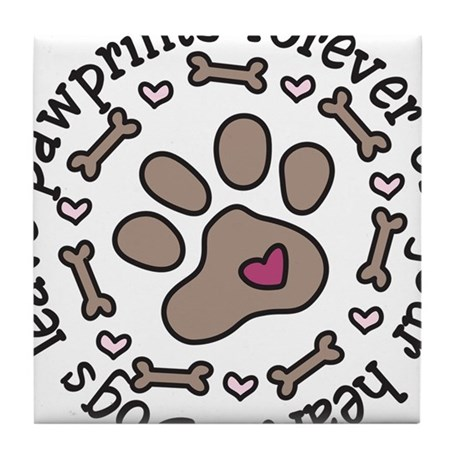Pawprints Tile Coaster