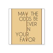 """Hunger Games Square Sticker 3"""" x 3"""""""
