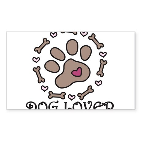 Dog Lover Sticker (Rectangle)