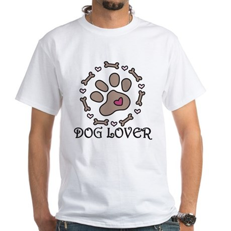 Dog Lover White T-Shirt