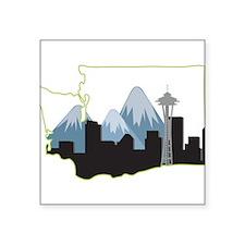 "Washington State Square Sticker 3"" x 3"""