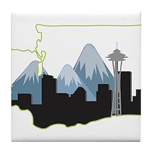 Washington State Tile Coaster