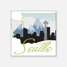 """Seatle Square Sticker 3"""" x 3"""""""
