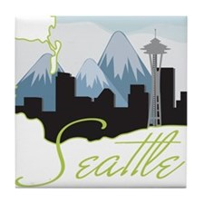 Seatle Washington Tile Coaster