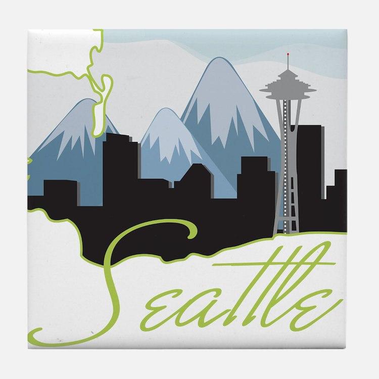 Seatle Washington Tile Coaster