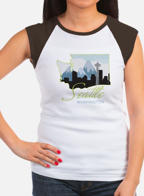 Seatle Washington Women's Cap Sleeve T-Shirt