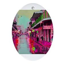 Funny Bourbon street Ornament (Oval)