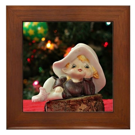 Christmas Elf #1 Framed Tile