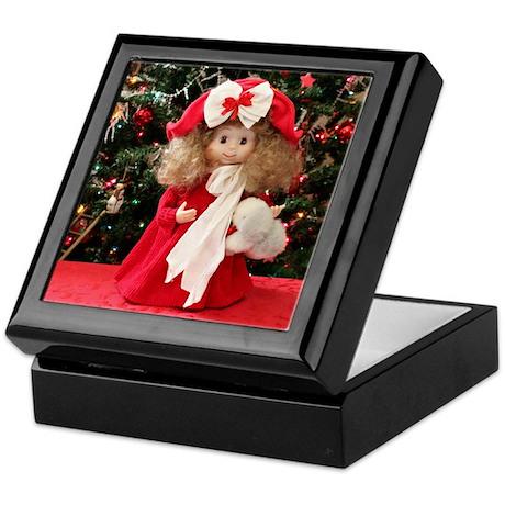 Christmas Caroling Doll #3 Keepsake Box