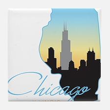 Chicago Illinois Tile Coaster