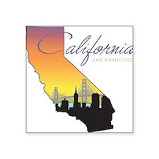 """San Francisco California Square Sticker 3"""" x 3"""""""