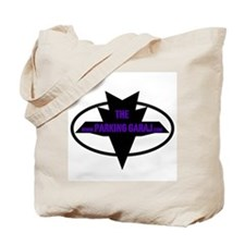 BLACK LOGO WITH PURPLE FONT Tote Bag