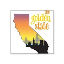 "The Golden State Square Sticker 3"" x 3"""