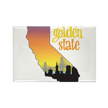 The Golden State Rectangle Magnet