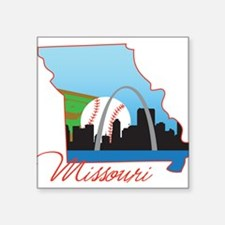 "Missouri Square Sticker 3"" x 3"""