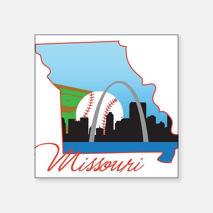"Missouri Square Sticker 3"" x 3"""