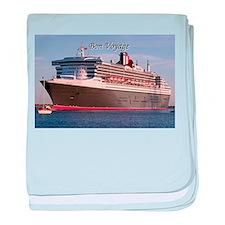 Bon Voyage: cruise ship 2 baby blanket
