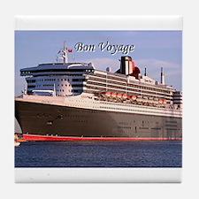 Bon Voyage: cruise ship 2 Tile Coaster