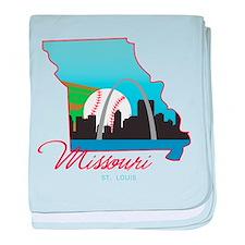 Saint Louis Missouri baby blanket