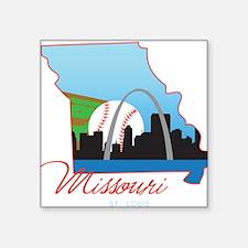 "Saint Louis Missouri Square Sticker 3"" x 3"""